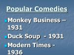 popular comedies