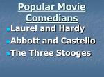 popular movie comedians