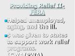 providing relief ii fera