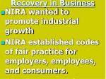 recovery in business