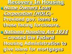 recovery in housing