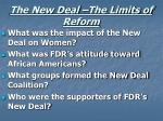 the new deal the limits of reform