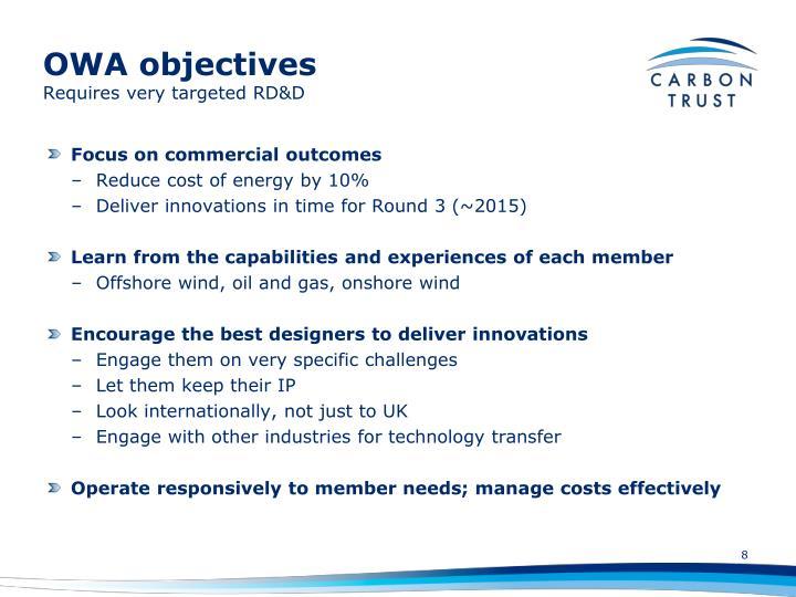 OWA objectives