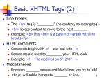 basic xhtml tags 2