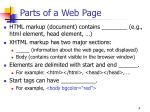 parts of a web page