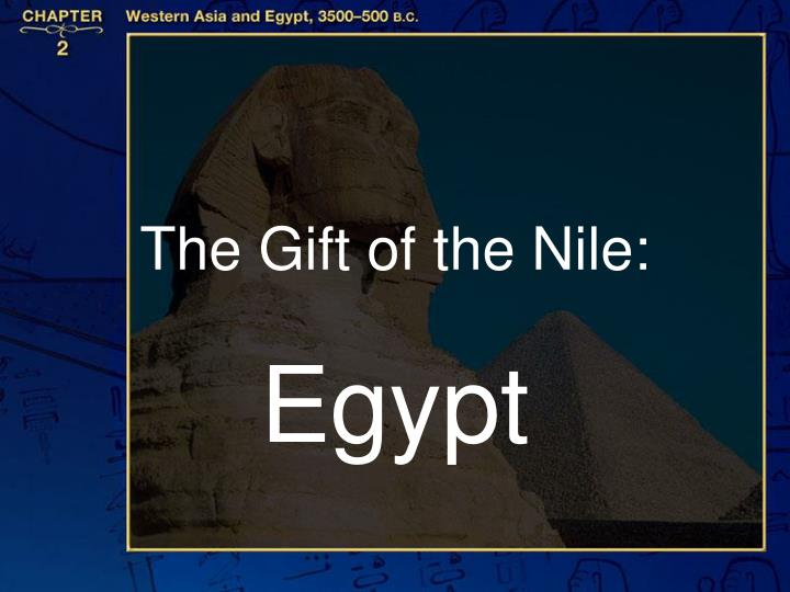 the gift of the nile n.