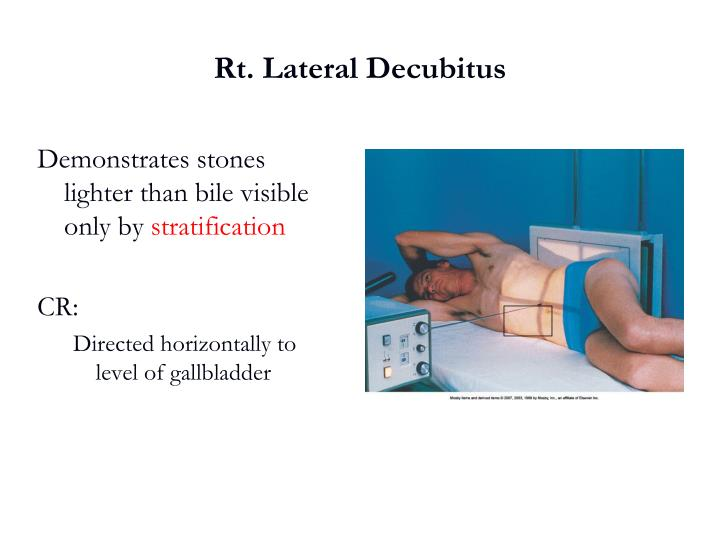Rt. Lateral Decubitus