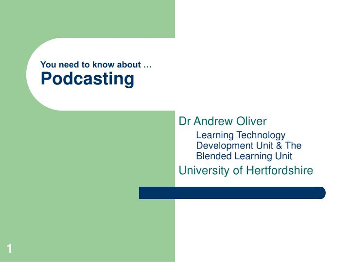 you need to know about podcasting n.