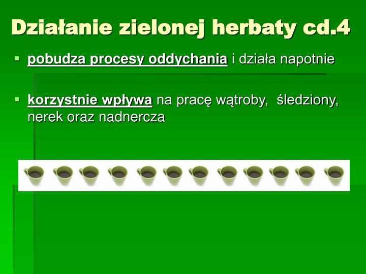 Działanie zielonej herbaty cd.4