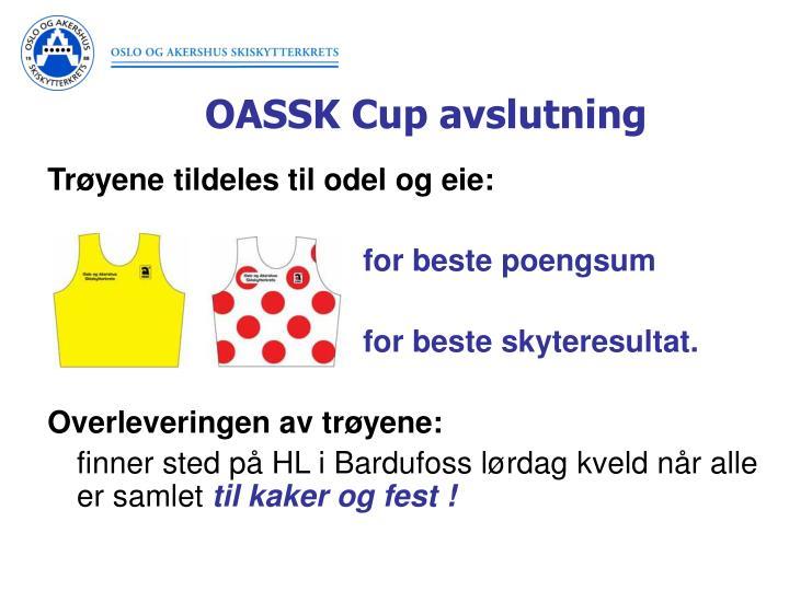 OASSK Cup avslutning