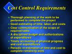 cost control requirements1