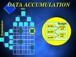 data accumulation