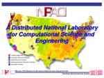 a distributed national laboratory for computational science and engineering