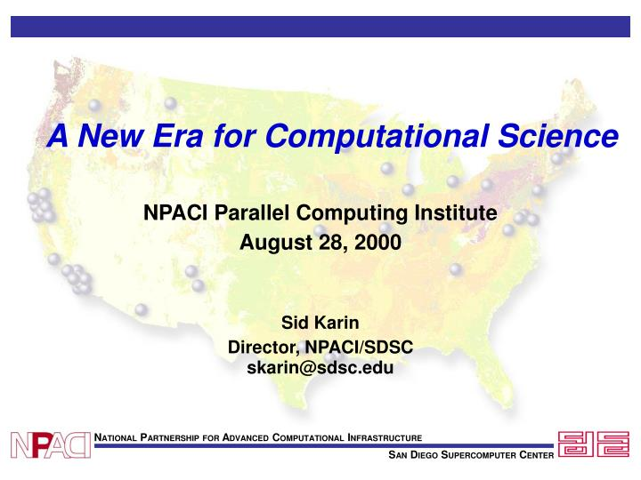 a new era for computational science
