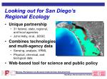 looking out for san diego s regional ecology