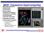 mice transparent supercomputing