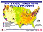 npaci is a highly leveraged national partnership of partnerships
