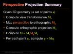 perspective projection summary
