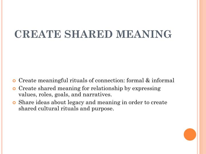 CREATE SHARED MEANING