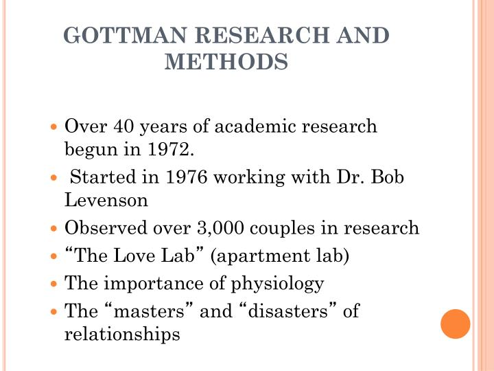 Gottman research and methods