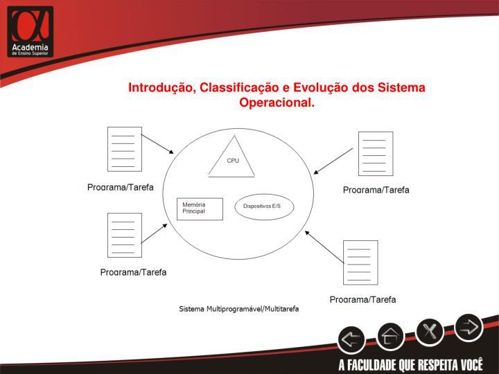 Introdução, Classificação e Evolução dos Sistema