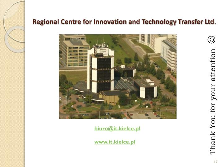 Regional Centre for Innovation and Technology Transfer Ltd