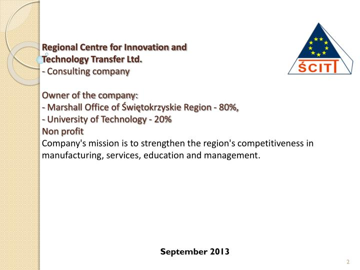 Regional Centre for Innovation and