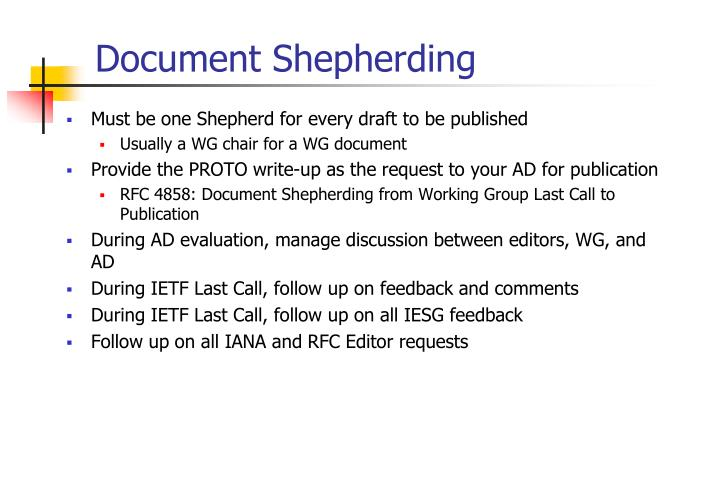 Document Shepherding