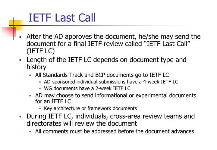 IETF Last Call