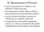 ii measurement of poverty