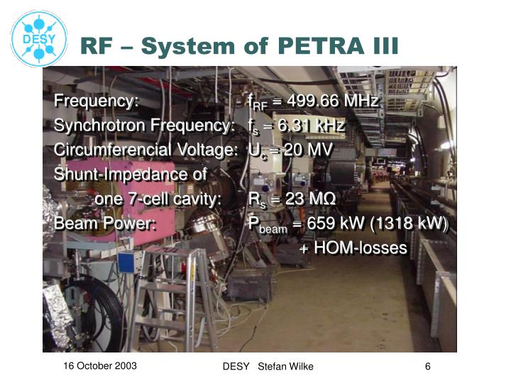 RF – System of PETRA III