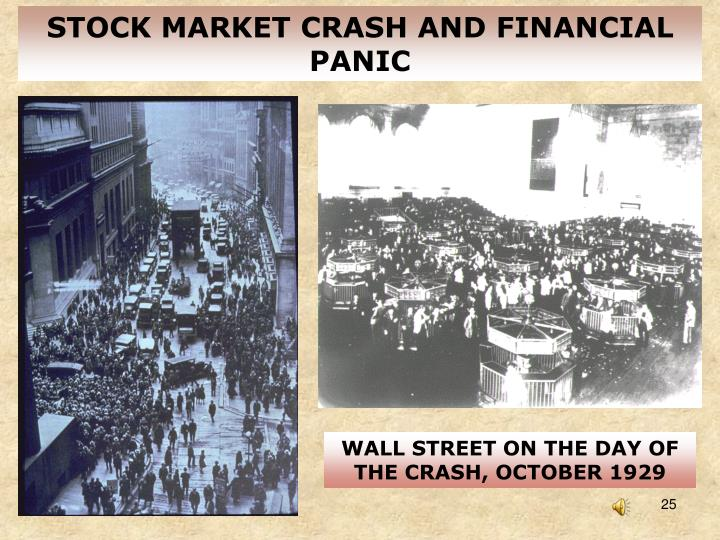 STOCK MARKET CRASH AND FINANCIAL PANIC