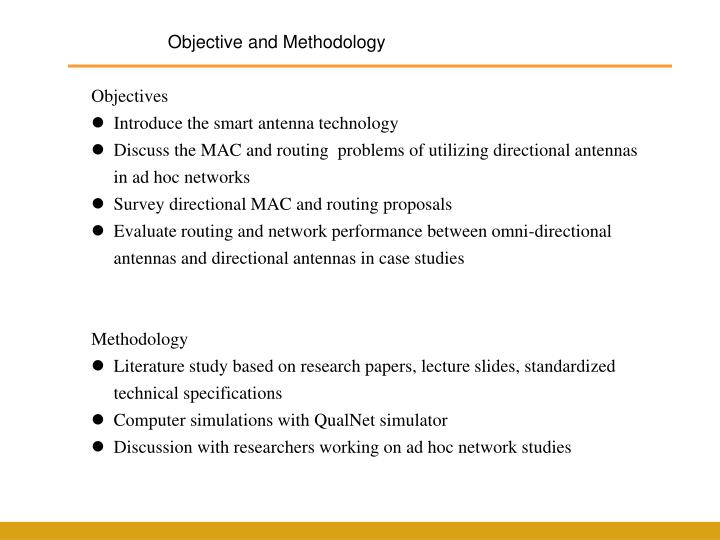Objective and Methodology