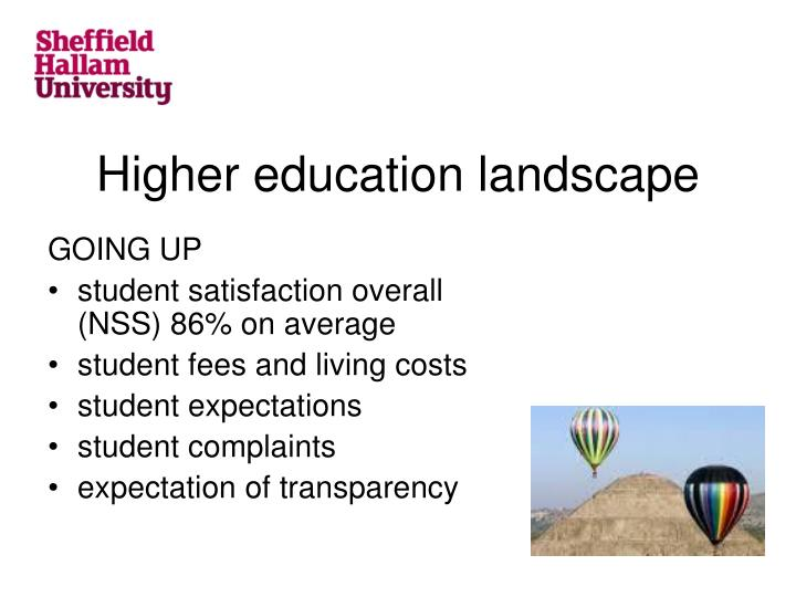Higher education landscape