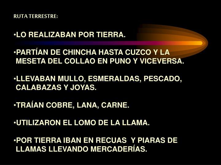 RUTA TERRESTRE: