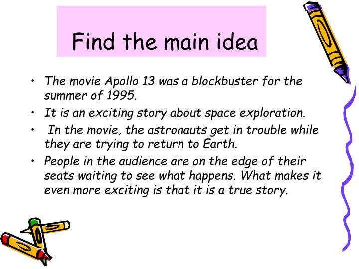 Find the main idea