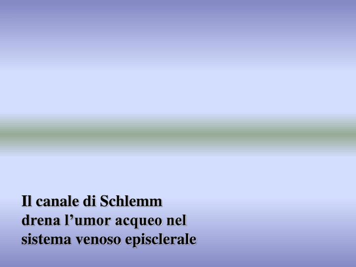 Il canale di Schlemm