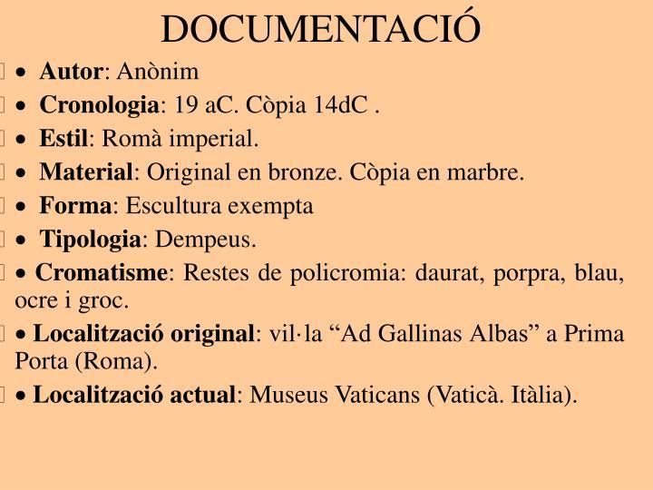 DOCUMENTACIÓ