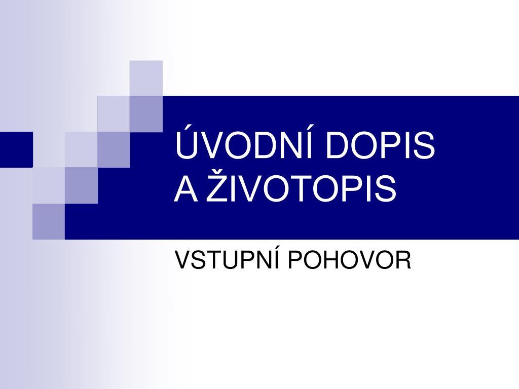 Ppt Uvodni Dopis A Zivotopis Powerpoint Presentation Id 5883140