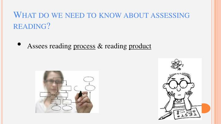 What do we need to know about assessing reading?