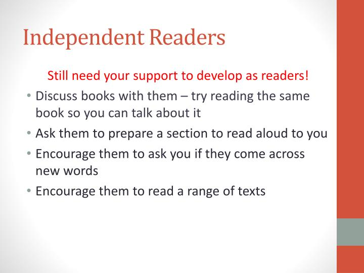 Independent Readers