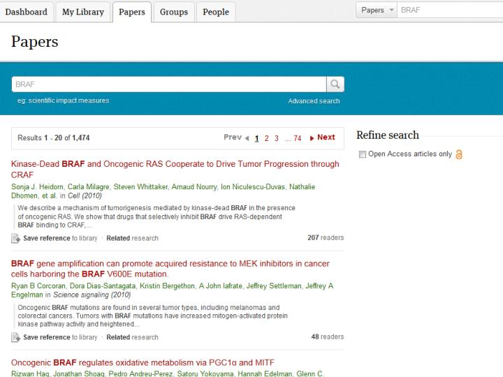 Mendeley Research Catalog