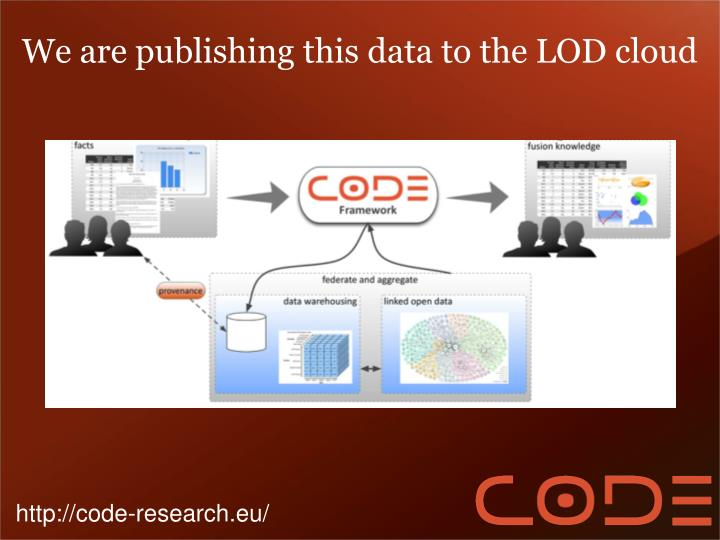 We are publishing this data to the LOD cloud