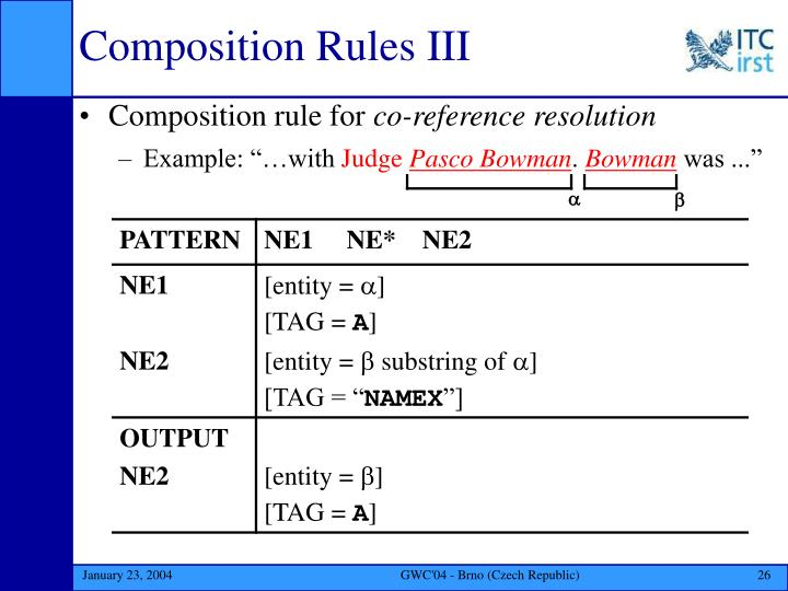 Composition Rules III