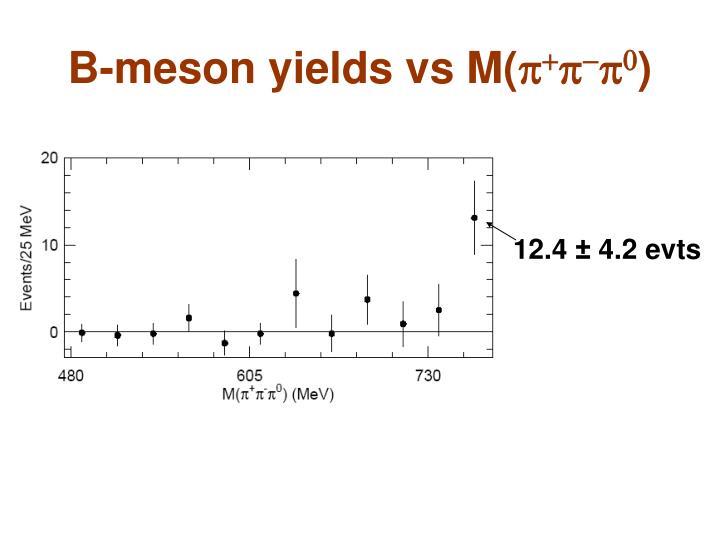 B-meson yields vs M(