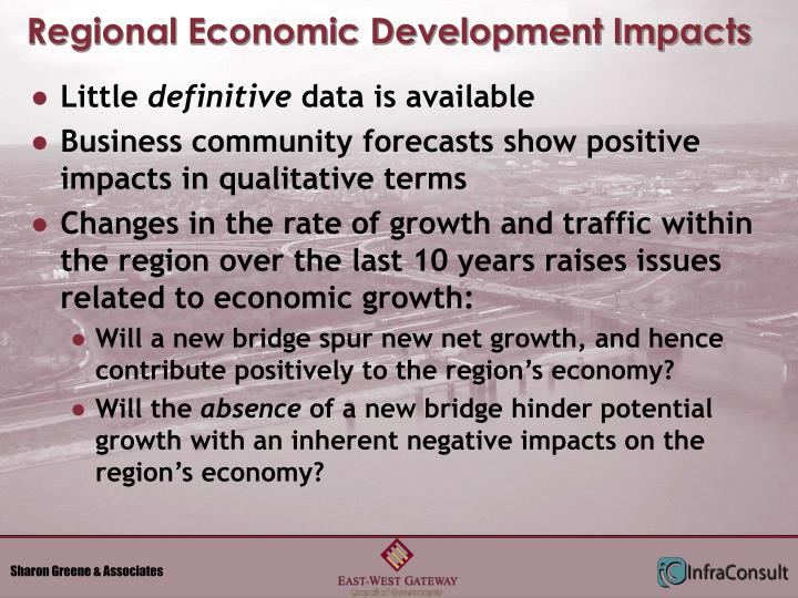 Regional Economic Development Impacts
