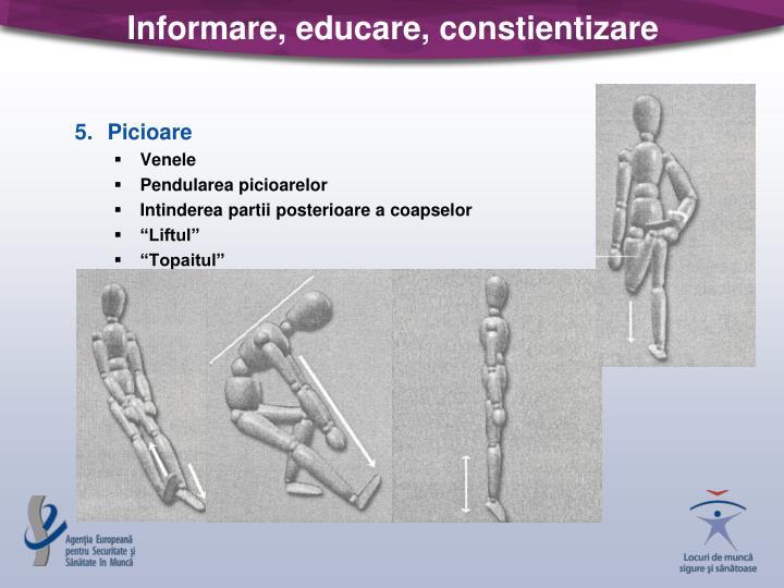Informare, educare, constientizare