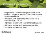 statewide data systems