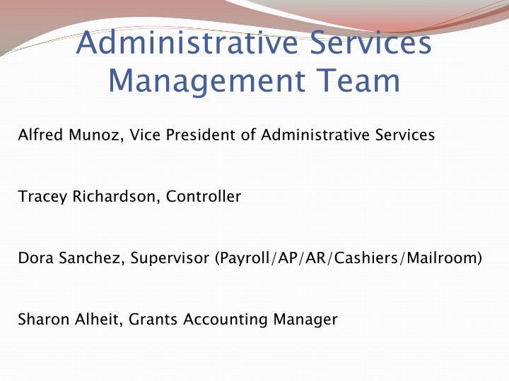 Administrative Services Management Team