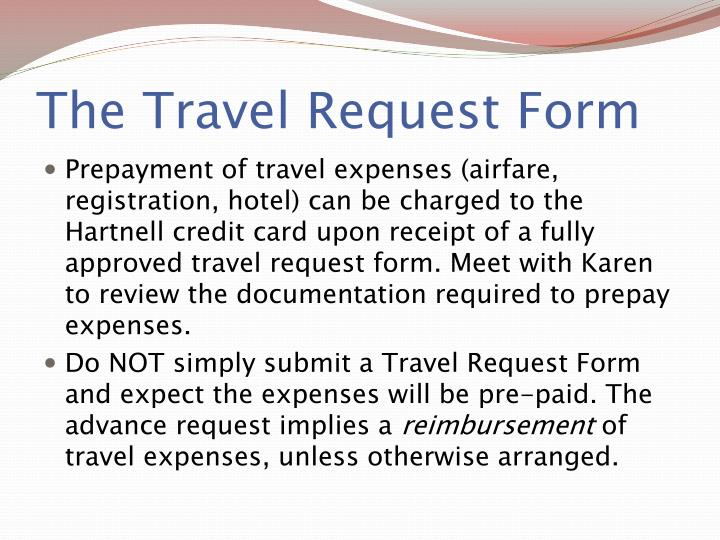 The Travel Request Form